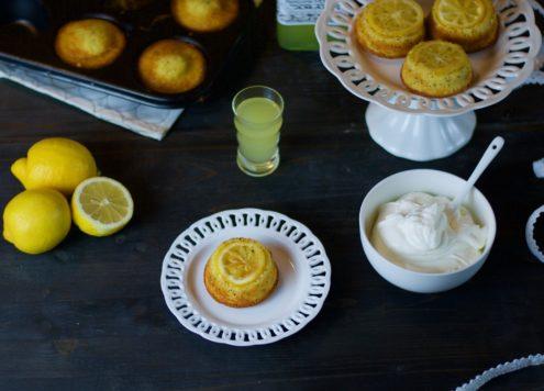mini upside down lemon cake